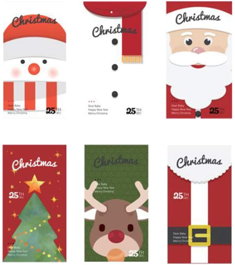 Cabilock 12pcs Christmas Treat Bags Paper Candy Bags Gift Packaging Bags Holiday Goody Bags for Xmas Party Supplies
