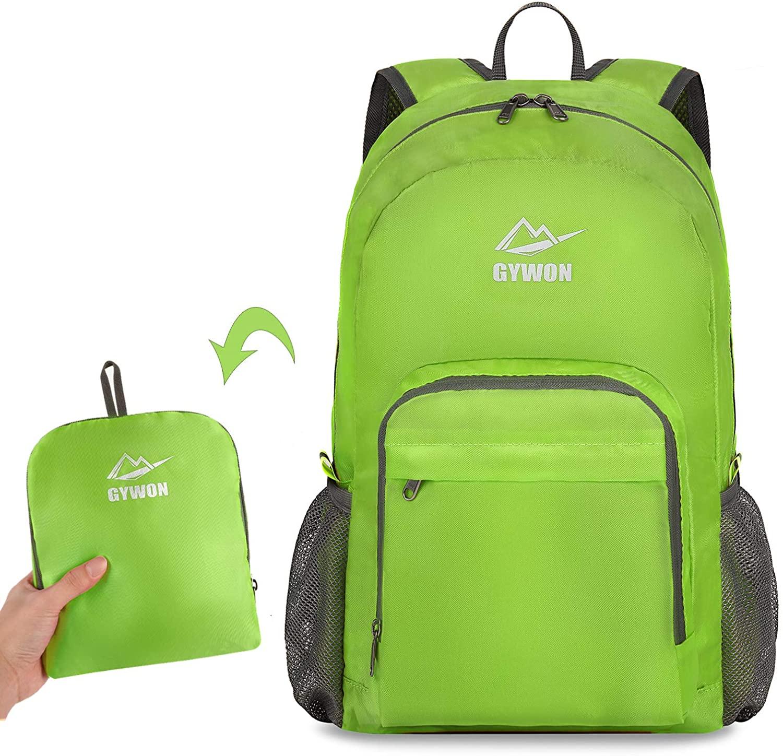 Gywon Hiking Daypacks Travel Backpack Shoulder Bag Lightweight Packable Foldable Carry On
