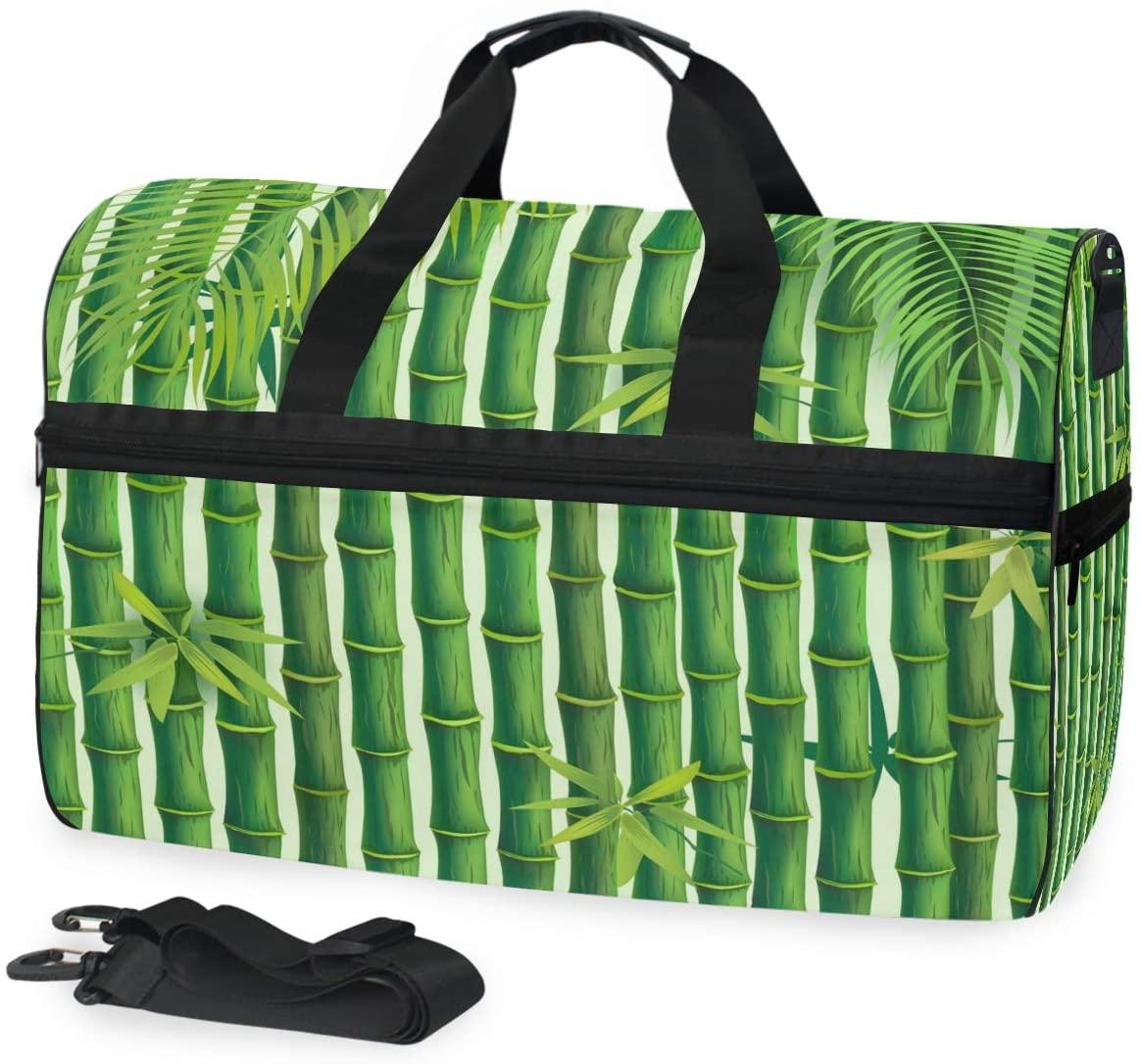 Travel Duffels Bamboo Duffle Bag Luggage Sports Gym for Women & Men
