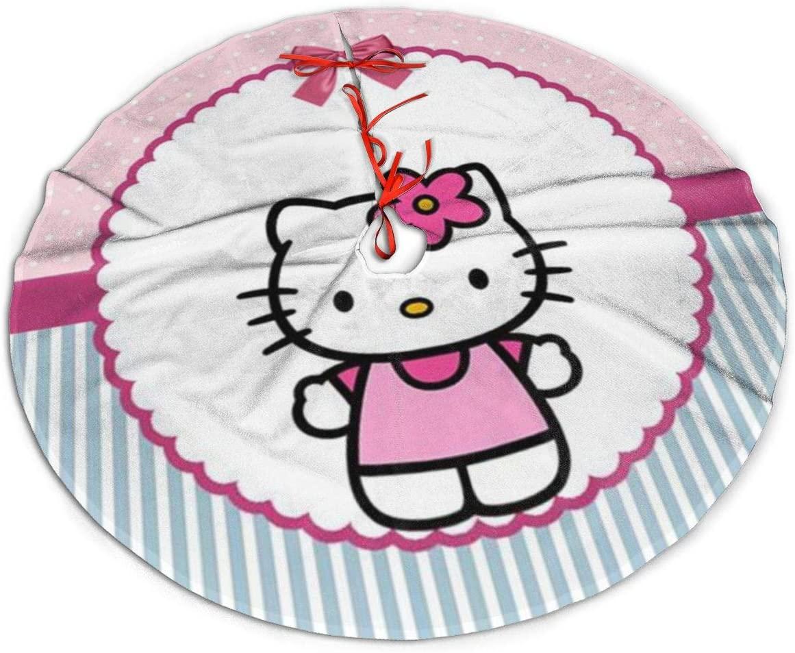 ETONKIDD Hello Kitty Christmas Decoration Tree Skirt, Suitable for Christmas Decoration, Holiday, Party Decoration Ornaments36