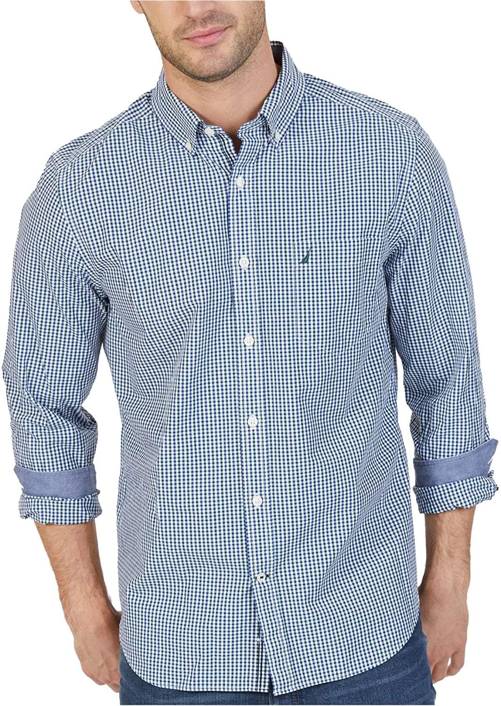Nautica Long Sleeve Mini Tattersal Button Down Shirt