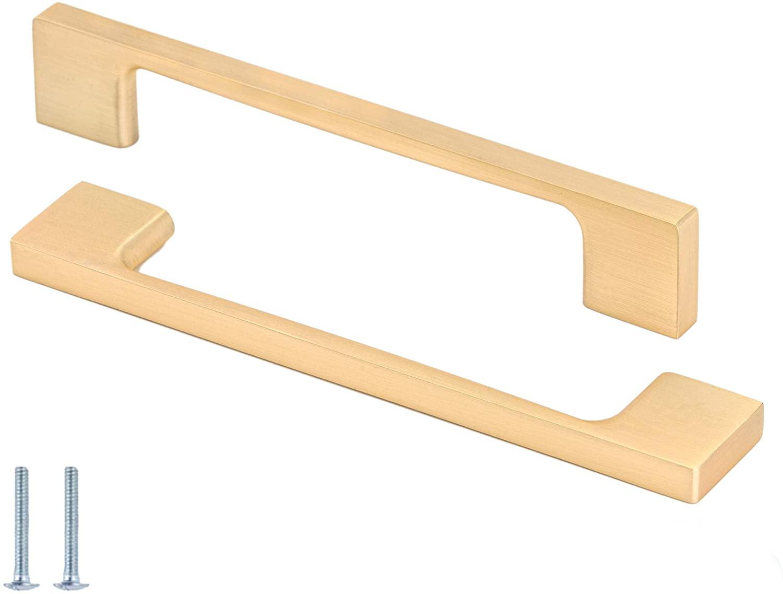 Cabinet Handles Gold Drawer Pulls,Cabinet Pulls for Kitchen Cabinet Dresser Knobs Black Cabinet Pulls Drawer Pulls,Gold Drawer Pulls Dressers for Bedroom,5 inch(128mm) Center Hole,10 Pack-Linkaa Inc.