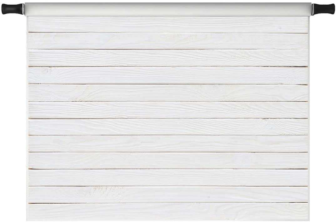 Kate 7x5ft White Wood Backdrops White Wooden Board Photo Background for Pictures Photo Video Shoot Props