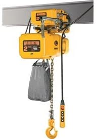 Harrington NERM025S-L-15 NER Electric Hoist w/Motor Trolley - 2-1/2 Ton, 15' Lift, 22 ft/min, 230V