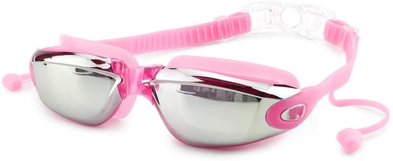 FABSELLER Swimming Goggles with Earplugs No Leaking Anti Fog UV Protection Swim Goggles for Women Youth Kids Child, Pink