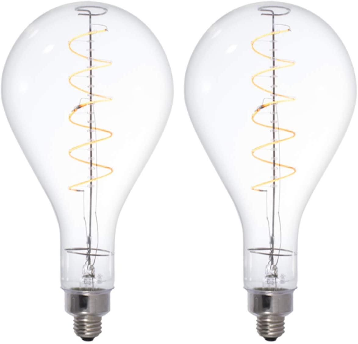 4 Watt Grand Nostalgic Standard Light Bulbs | 60W Equivalent LED Medium E26 Base 2200K Warm White PS52 | 200 Lumens 15000 Average Lifespan | 2 Pack by GoodBulb