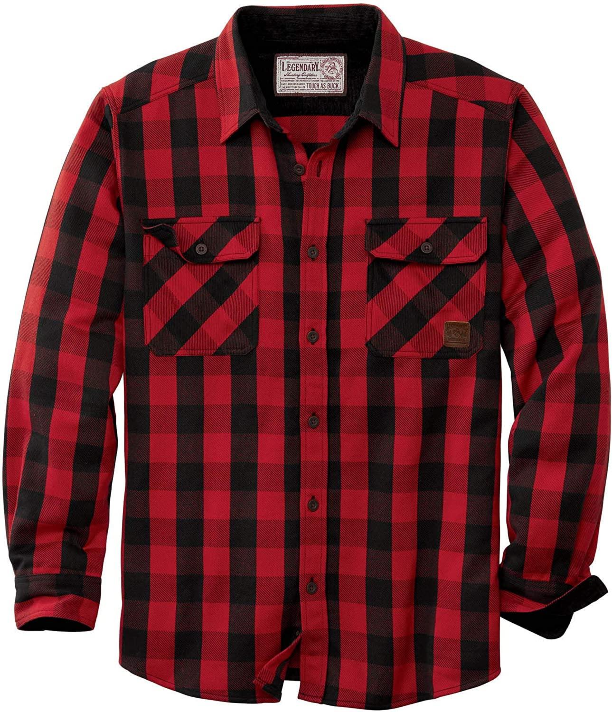 Legendary Whitetails Men's Tough as Buck Heavyweight Long Sleeve Flannel Shirt