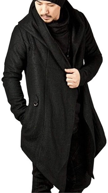 Autumn Winter Men's Long Sleeve Clothing Sweatshirt Hoodie Men Hooded Cardigan Loose Cloak Outerwear Coat Overcoat