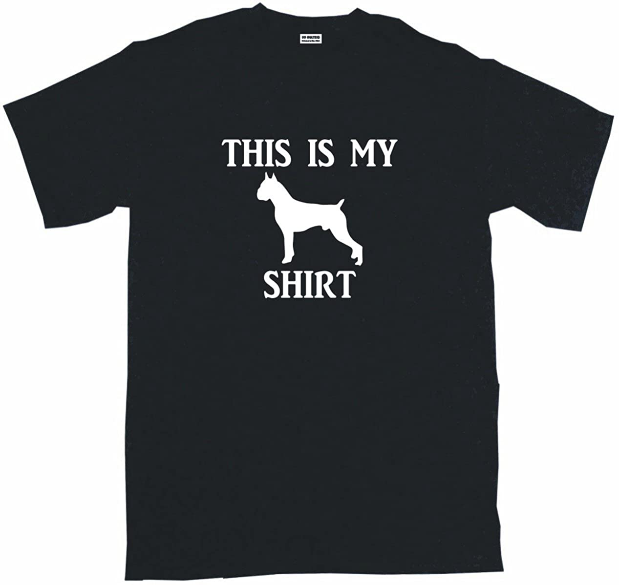 This is My Boxer Dog Silhouette Shirt Men's Tee Shirt