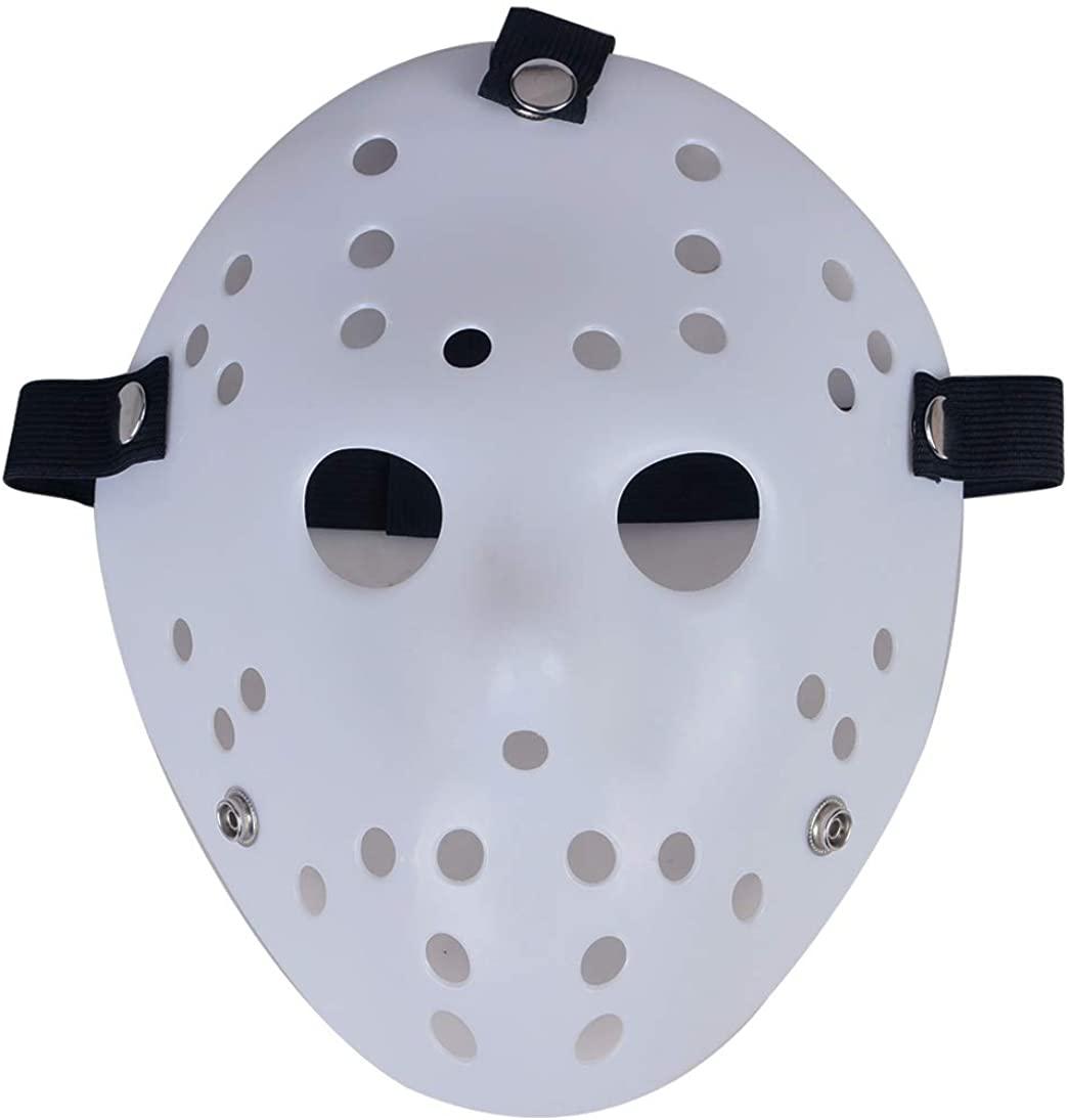 Gmasking Horror Halloween Cosplay Props Costume Deluxe Hockey Mask Replica White
