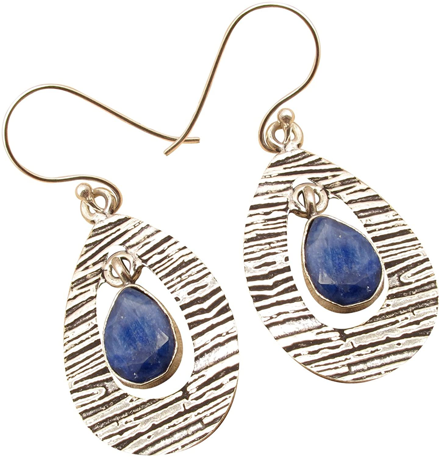 925 Sterling Silver Plated Traditional CHANDELIER Earrings ! Real Drop Gemstone Engagement Jewelry