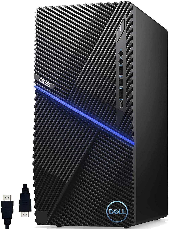 Dell G5 5090 Premium 2020 Gaming Desktop Computer I 10th Gen Intel Octa-Core i7-10700F (>i9-9900) I GTX 1660 Ti 6GB GDDR6 VR-Ready I 32GB DDR4 512GB PCIe SSD I USB-C Win 10 Pro + Delca HDMI Cable