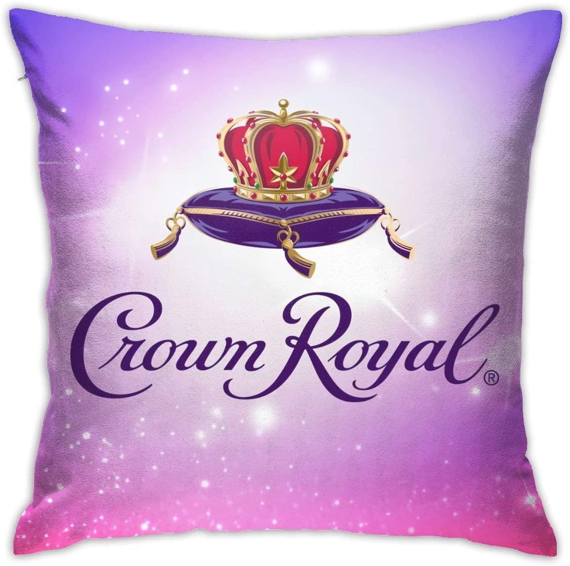 Aebipo Crown Royal Pillow Cover Cotton Polyester Cushion Cover 18