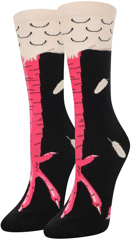 HAPPYPOP Women Girls Funny Unicorn Llama Chicken Corgi Pug Socks Novelty Gift for Animal Lover