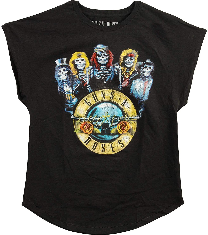 Guns N' Roses Band Bullet Black T-Shirt