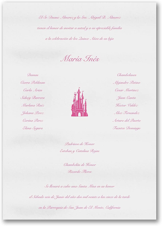 575pk Fit For A Princess - Invitation Scroll-Quinceañera
