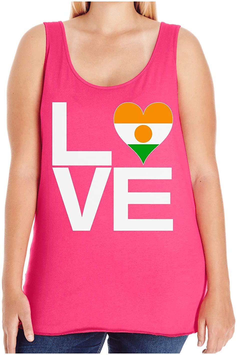 HARD EDGE DESIGN Women's Love Block Niger Heart Plus Size Tank Top, Size 4, Hot Pink
