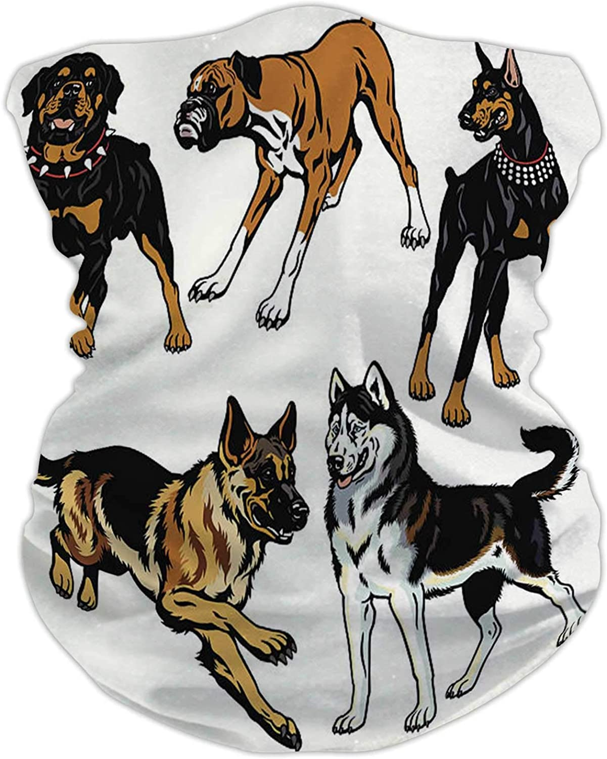 Dog icon Set in Thin line Style - - France,Seamless ana for Sun Dust Protection Thail