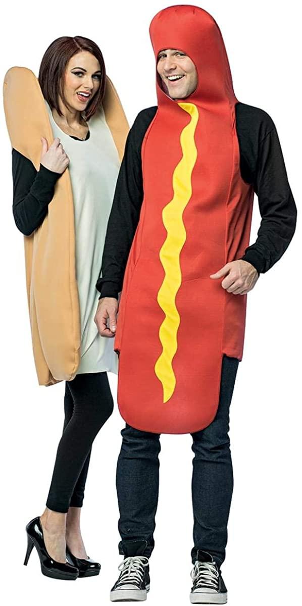 Rasta Imposta - Hot Dog & Bun Couples Costume