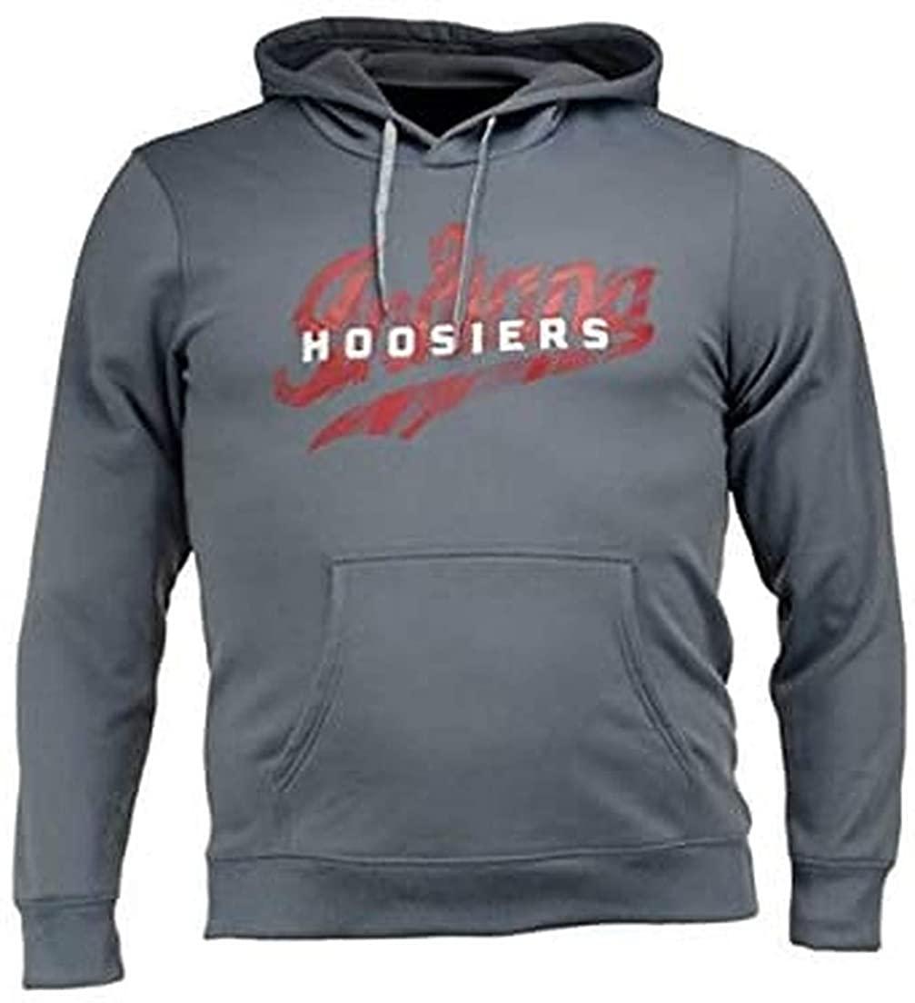 adidas Indiana Hoosiers Climawarm NCAA Sideline Stitch Hooded Sweatshirt (X-Large)