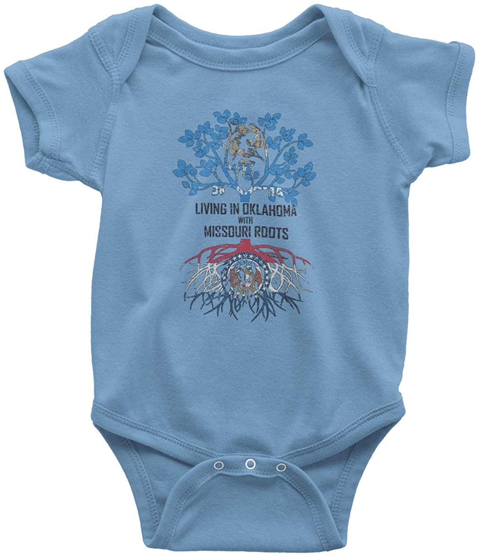 HARD EDGE DESIGN Baby's Living in Oklahoma with Missouri Roots Bodysuit