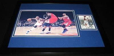 JR Smith Signed Framed 11x14 Photo Display UDA Knicks Nuggets