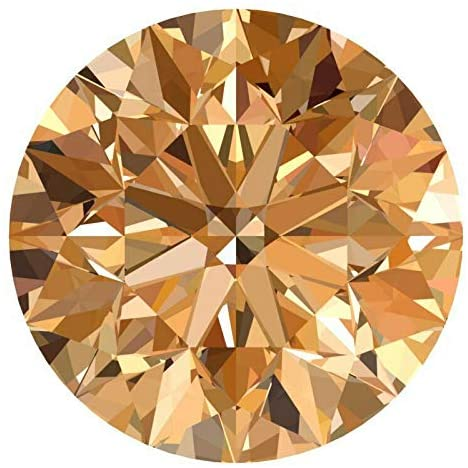 CERTIFIED 1.5 MM / 0.015 Cts. Natural Loose Diamonds, Fancy Champagne Brown Color Round Brilliant Cut SI3-I1 Clarity 100% Real Diamonds by IndiGems
