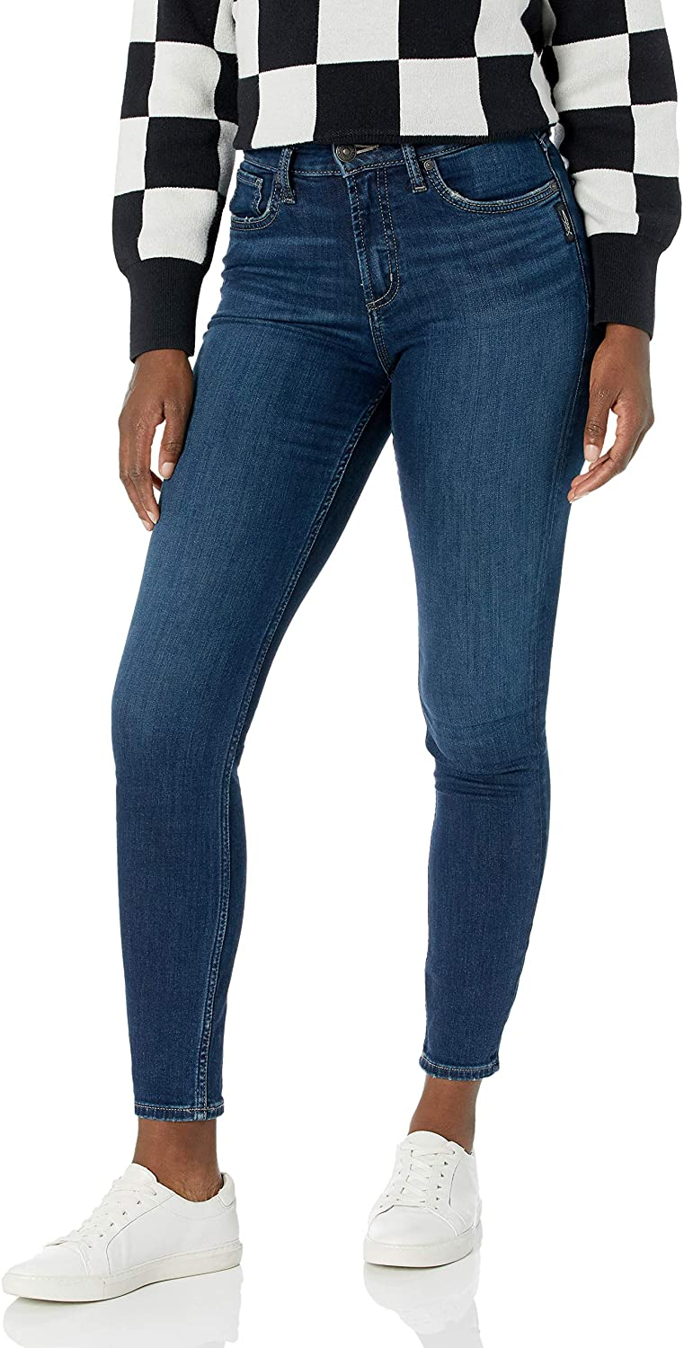 Silver Jeans Co. Women's Avery Curvy Fit High Rise Skinny Jeans