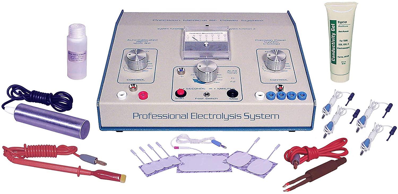 AVX 600 Professional Blend Tone Sistema de electrólisis galvánica RF para depilación permanente que incluye un kit de accesorios transdérmicos +