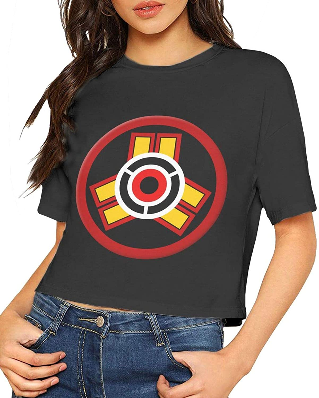 Among Us Women's Basic Crop Top Women Short Sleeve T-Shirts Tees Tunic Tops Tee Shirts
