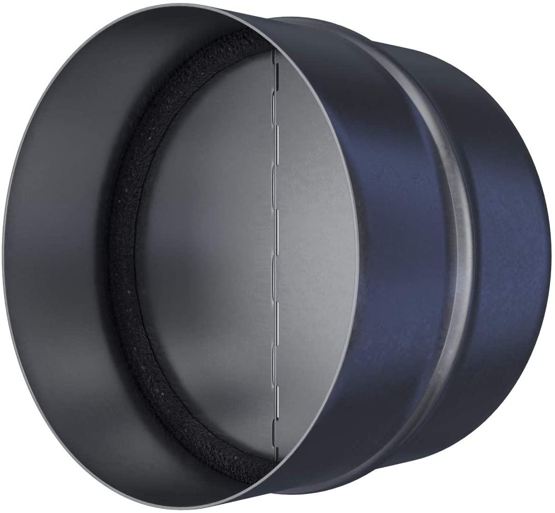 Draft Blocker - Backdraft Damper Duct - Draft Stopper - Backflow Preventer - Inline Fan Vent - Vent Deflector (5'' Inch)