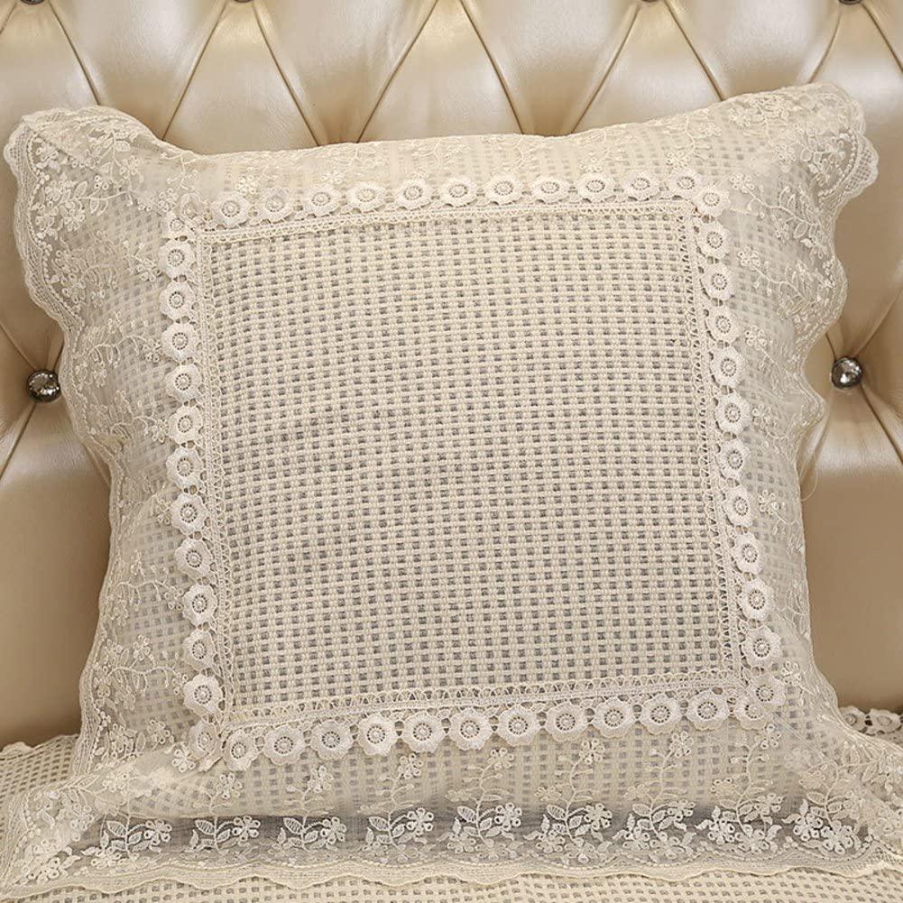 WZF European Style Sofa Cushion Back Cushion Lumbar Cushion Modern Simple Bedside Cushion auto Cushion Cushion-B 50x50cm (20x20 inch) Version A