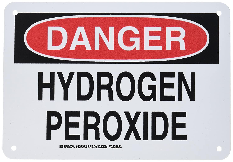 Brady 126283 Chemical and Hazard Sign, Legend