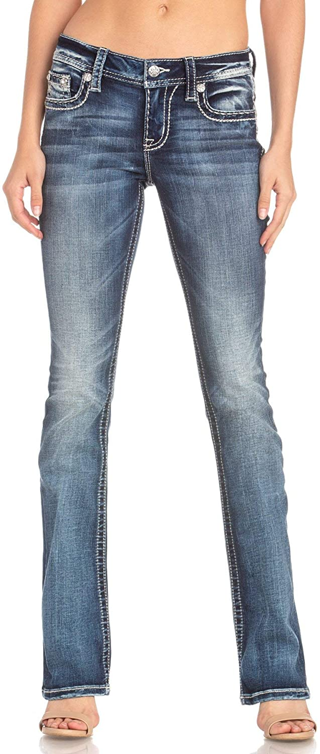 Miss Me Sure Thing Slim Bootcut Jeans