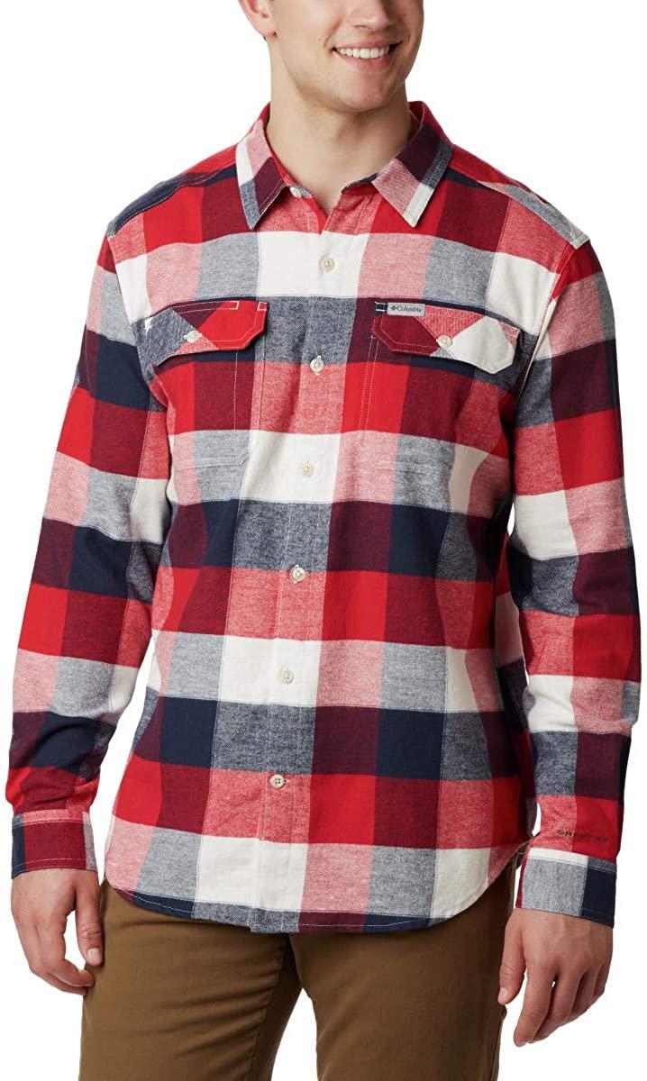 Columbia Men's Flare Gun Stretch Flannel Shirt, Moisture Wicking, Comfort Stretch