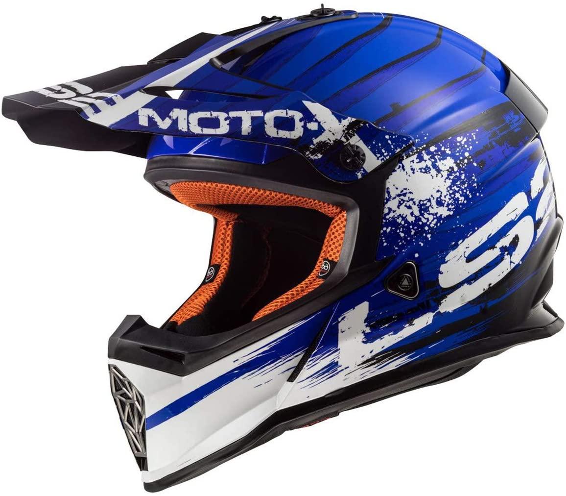 LS2 Helmets MX-Off Road Fast V2 Helmet (Gator Blue Gloss - X-Small)