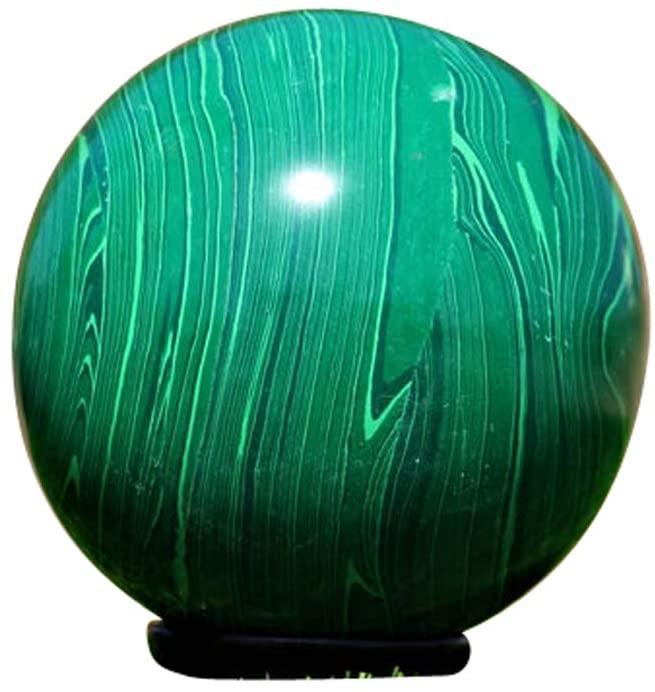 Green Malchite Spiritual Crystal Quartz Meditation Gemstone Healing Power Aura Stone Sphere Ball Reiki Chakra Positive Energy