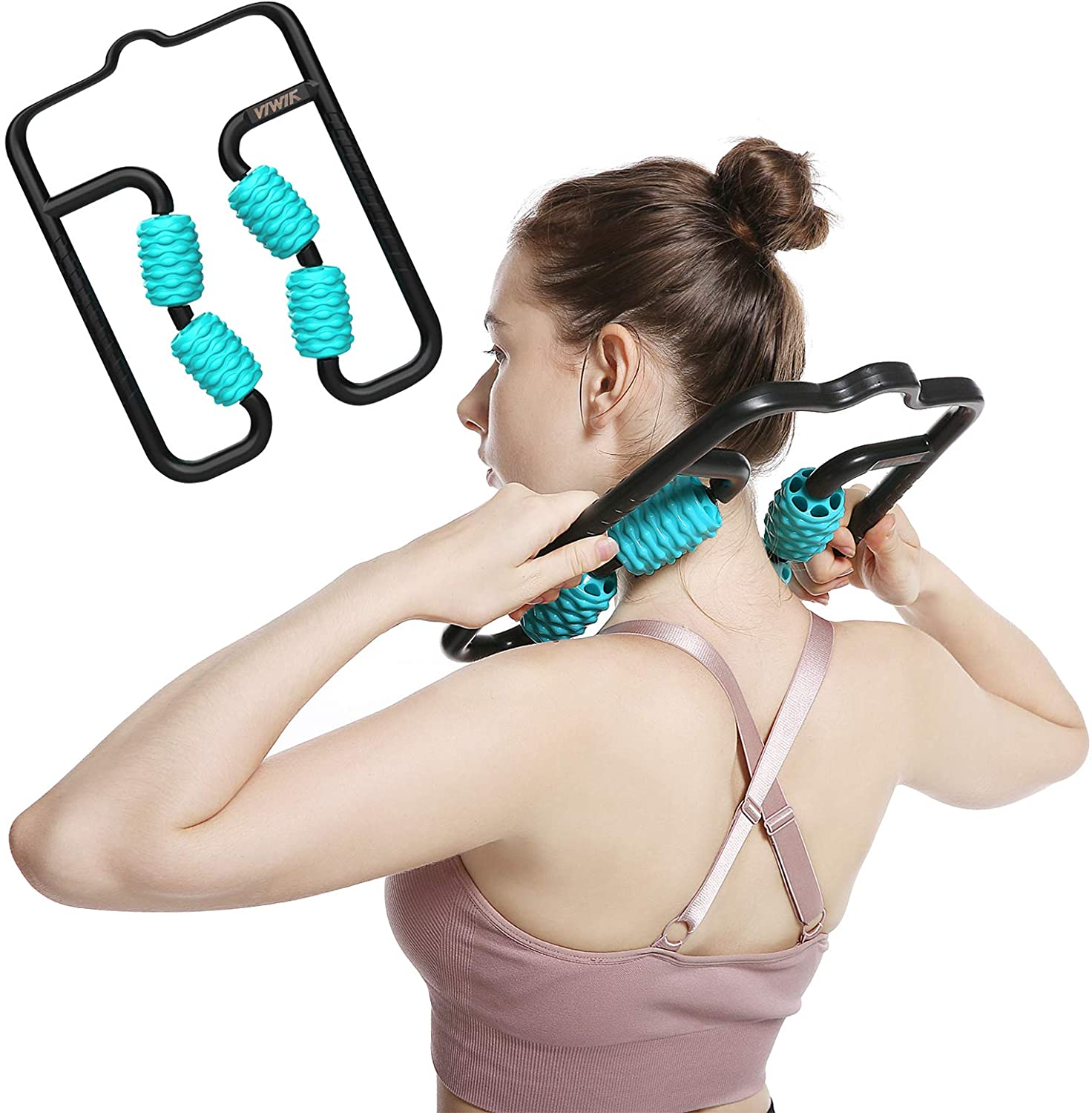 Innovative High Tech Trigger Point Roller Massager Stick- Hand Arm and Leg Massager for Sore Muscle, Maximum Tension Relief ∣ High Density Foam for Deep Tissue Pain Relief