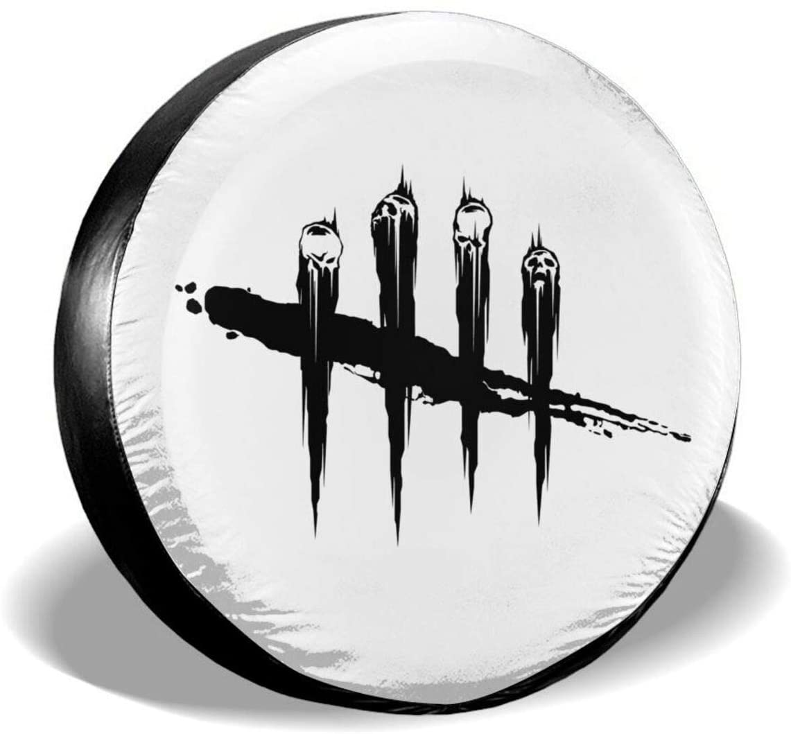BKAJSDFB Dead of Daylight Gaming Spare Tire Cover Waterproof and Dustproof Tire Protection 14-17 (in)