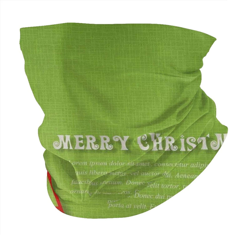 Zmeyou Green Christmas Tree Face Mask Bandanas Neck Gaiter for Women Men, Half Balaclava, Face Scarf, Unisex Multifunctional Full-Coverage Tube Masks