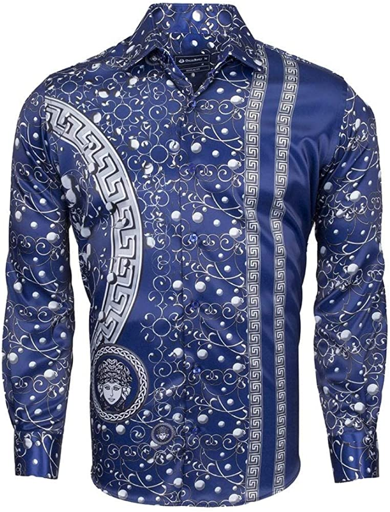 Oscar Banks Mythological Patterned Mens Shirt