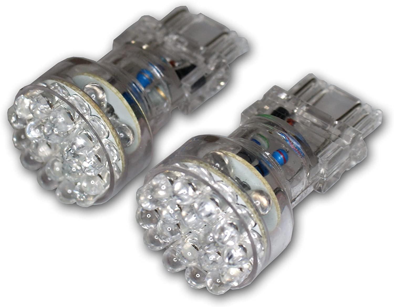 TuningPros LEDDRL-3157-A24 Daytime Running Light LED Light Bulbs 3157, 24 LED Amber 2-pc Set