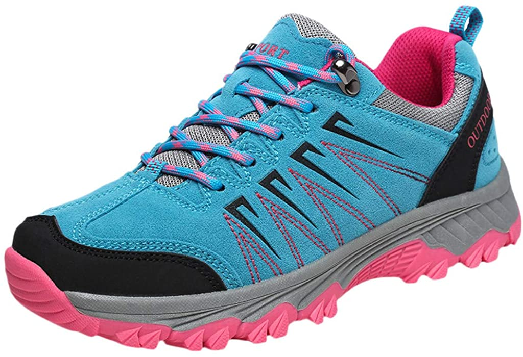 LENXH Couples Shoes Summer Sports Shoes Outdoor Hiking Shoes Non-Slip Wear Shoes Casual Sports Shoes 36-45
