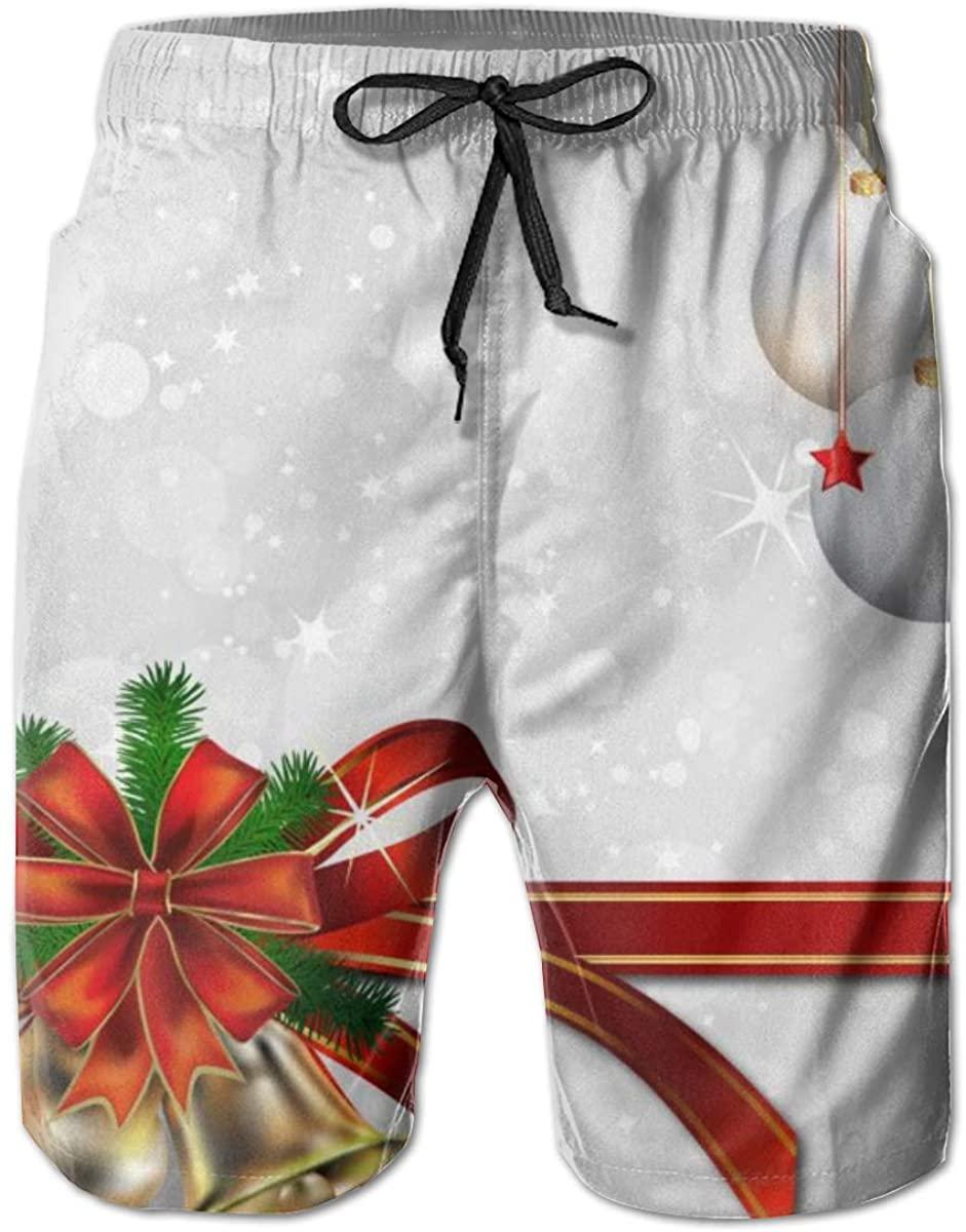 Men's Beachwear Swimtrunks Christmas Gitter Ball Quick Dry Running Beach Summer with Pockets