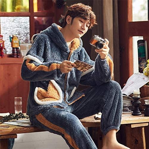 Pajamas for men warm, Pajamas for men sleepwear men's flannel Leisure winter sleep suit pajama set male mens pyjamas warm for sleeping nightwear, warm pajamas for men, mens warm pajamas set