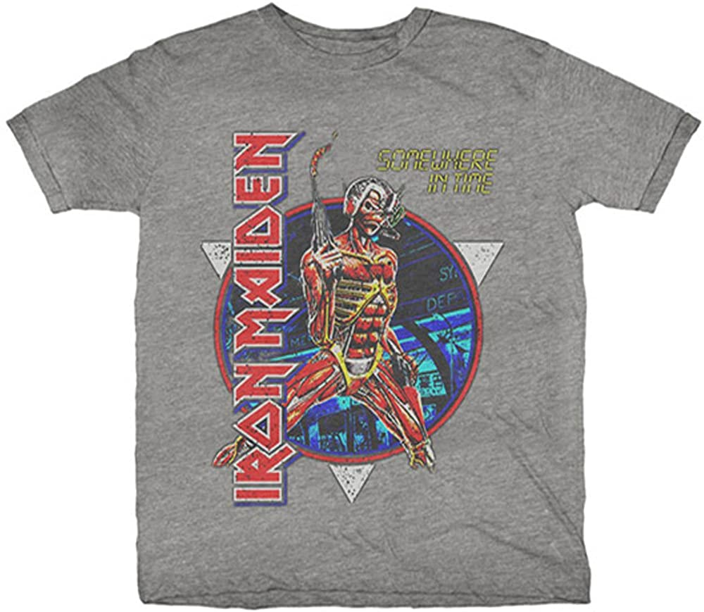 Iron Maiden Somewhere in Time Official Tee T-Shirt Mens Unisex