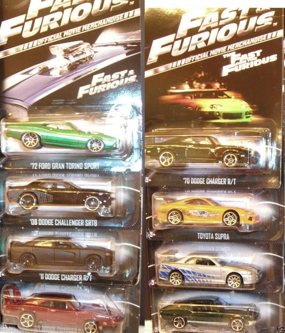 A Complete 2013 Set of Hot Wheels Fast & Furious Limited Edition 1:64 Scale Collectible Die Cast Metal Toy Car Models