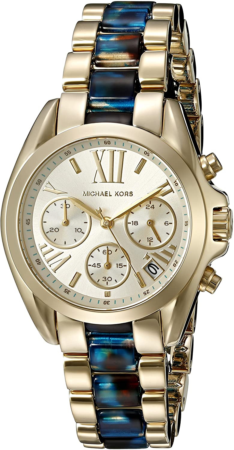 Michael Kors Women's Mini Bradshaw Gold-Tone Watch MK6318