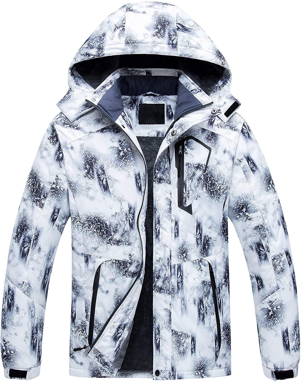 Men's Mountain Waterproof Ski Jacket Windproof Snowboarding Jacket Warm Winter Coat Raincoat