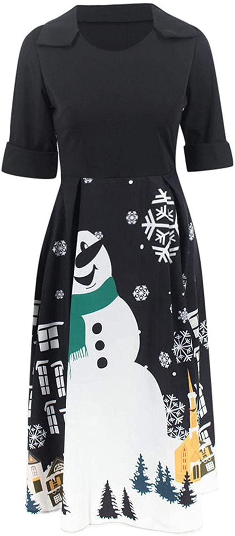 Girls Printed Dress,Kids Cute Unicorn and Mermaid Designed Summer Sleeveless Sundress Xmas Santa Dresses